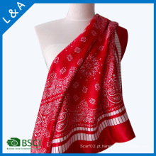 Lady Fashion Printed Satin Silk Magic Mutifunctional Collar Scarf