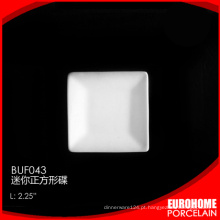 Jantar EuroHome define o prato de porcelana cerâmica fina pequena de molho de soja