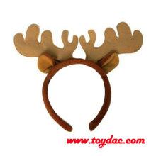 Gancho de cabelo de rena de Natal de pelúcia