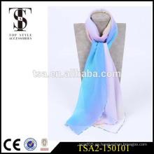 Las bufandas de seda venden al por mayor el caramelo popular del georgette del paisaje del precio barato de la alta calidad popular del mercado de Vietnam