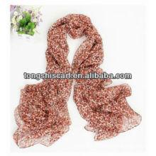 SD319-087 мода печатных шелковый шарф пользовательские