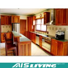 Mobiliário de armário de cozinha de folheado de estilo clássico (AIS-K197)