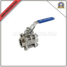 Válvula de bola de acero inoxidable hilo 3-PC (YZF-E40)