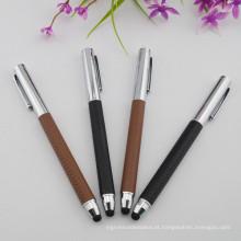 Prenda de couro em relevo Pen Gift Roller Pen