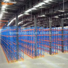 plataforma de paletas metálicas de doble profundidad para almacenamiento en almacenes