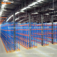 metal double-deep pallet rack for warehouse storage