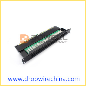 1U RJ11  Patch Panel, 50-Port Cat3 Panel