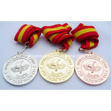 Itf Taekwon-Do Gold Silver Copper Award Medal Medallion