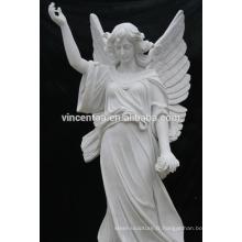 Thème de Mytholog occidental Style Folk européen Ange Statue de marbre blanc