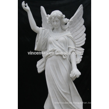 Western Mytholog Theme European Folk Style Angel White Marble Statue