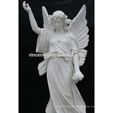 Western Mytholog Theme European Folk Style Angel White Marble Statue