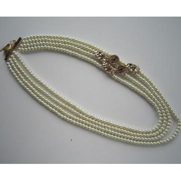 Collier de perles de verre 2015, collier de bijoux de mode comme un cadeau pour maman