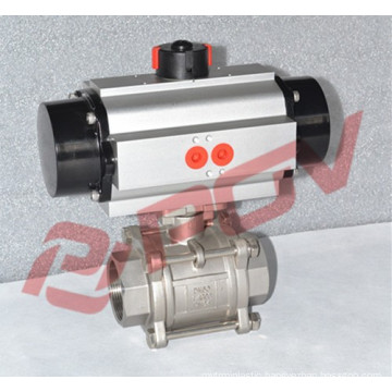 Pneumatic quick start 3pc 1/2 inch stainless steel ball valve