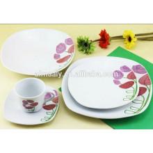 venda por atacado conjuntos de jantar de cerâmica quadrada