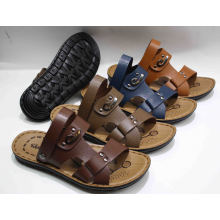 Hot Sale Classic Men Beach Sandal with PU Outsole (SNB-12-009)