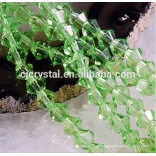 Perlas de Bicona de arcilla indonesia a granel, cuentas de bicona baratas