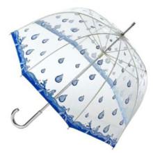Chuva impressão transparente guarda-chuva reto (BD-35)