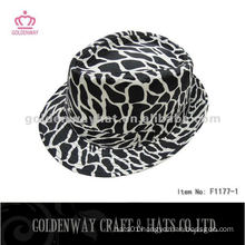 Fashion Zebra-Stripe Trilby Hat F1177