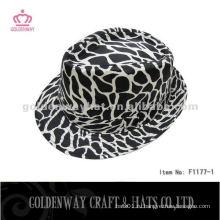 Мода Zebra-Stripe Trilby Hat F1177