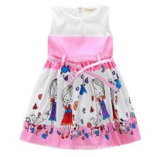 Mode Mädchen Kleid mit Lovly Print in Kinderkleidung
