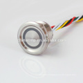 Sealed, Long Life,12v Green led Illuminated metal Anti-vandal Piezo Switches(covered waterproof inline push button switch)