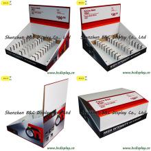 Suporte de exposição, suporte de exposição dos ganchos, pálete PDQ, caixa de exposição de papel (B & C-D049)