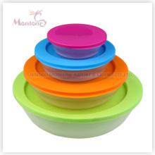 4pack Микроволновая печь пищевой Контейнер для хранения (190 мл 450мл 1Л 2,2 л)
