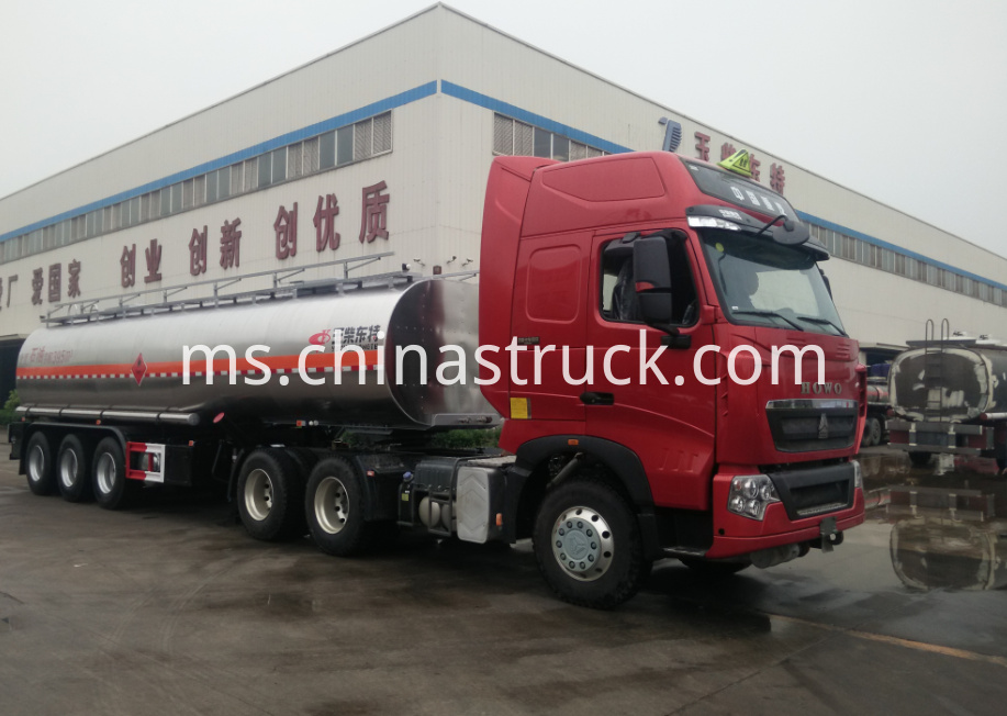 3 axle 40CBM crude oil tank semi-trailer