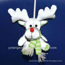 Kinder Weihnachtsgeschenk Rentier reflektierende Schlüsselketten