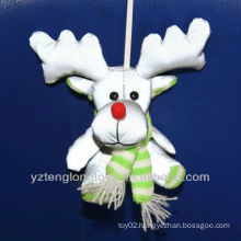 kids christmas gift reindeer reflective key chains