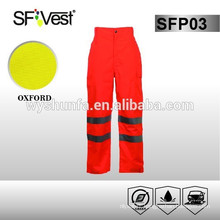 2015 high visiblity reflective safety 100% polyester pants with ANSI/ISEA 107-2010certificate