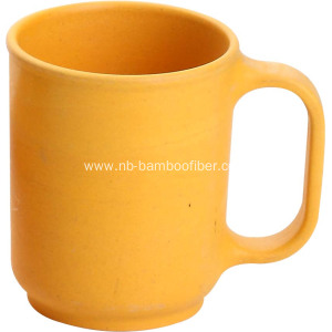 The bamboo fiber oval handle cup