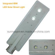 60W - jardin solaire intégré de LED / réverbère avec l'éclairage de sonde