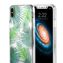 Custodia rigida per iPhone X in TPU trasparente