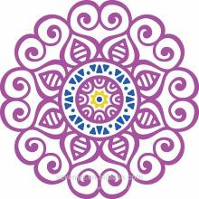 Serviettes 100% coton doux mandala violet pour la plage