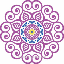 100% soft cotton purple mandala round towels for beach