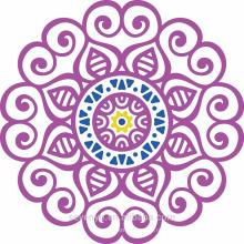 100% мягкий хлопок фиолетовый мандала круглые полотенца для пляжа