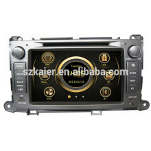 Factory price dual zone wince car radio for Toyota Sienna with GPS/Bluetooth/Radio/SWC/Virtual 6CD/3G /ATV/iPod