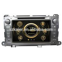 Цена по прейскуранту завода двойной зоны вздрогнуть автомобильный радиоприемник для Тойота Сиенна с GPS/Bluetooth/Рейдио/swc/фактически 6 КД/3Г /квадроциклов/ставку