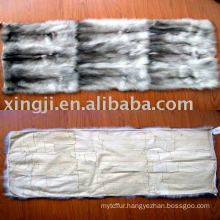 European blue fox belly fur plate