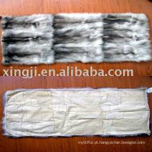 Placa de pele de barriga de raposa azul europeia
