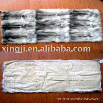 Европейский синий лиса меховой пластины живота