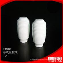 fábrica de porcelana de Chaozhou casa usar cerâmica saleiro de porcelana