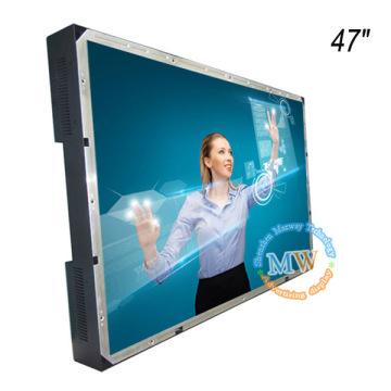Moniteur LCD de 47 pouces avec cadre ouvert couleur TFT avec écran tactile alimenté par USB