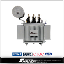 Transformador de potencia de 500kVA en cambiador de tomas de carga