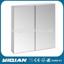 Conception de miroir de salle de bain en PVC moderne à double porte
