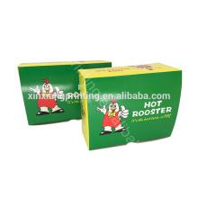 ¡Forma modificada para requisitos particulares! Caja de papel vendedora caliente especial de la comida,