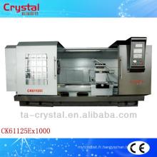 Grande broche alésage précision écart lit cnc tour outils de coupe machine CK61125E