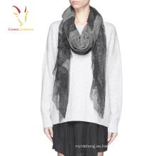 Bufanda de seda del cachemira de la alta calidad 2016 bufanda del cordón de la cachemira del 100%