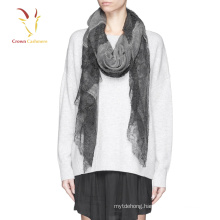 2016 high quality cashmere silk scarf 100% cashmere Lace scarf